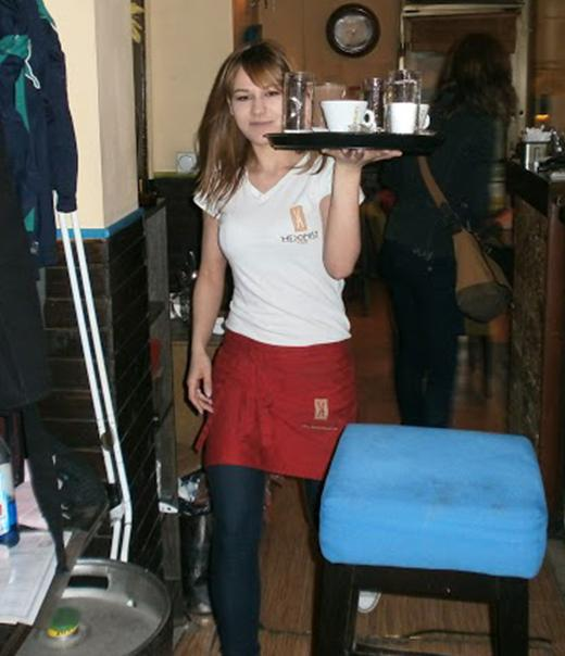 Teodora Petrovic (23) works even from the beginning of her studies